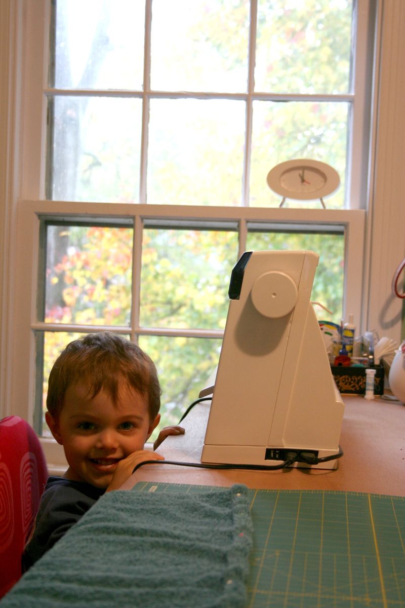 Jack at Sewing Table