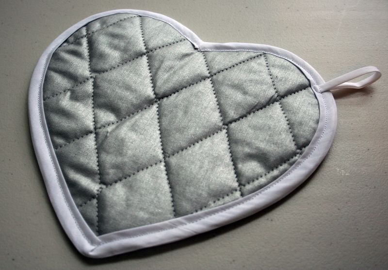 Heart Potholder back