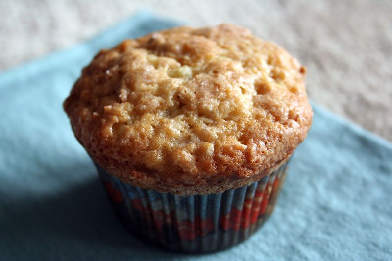 Banana crunch muffin