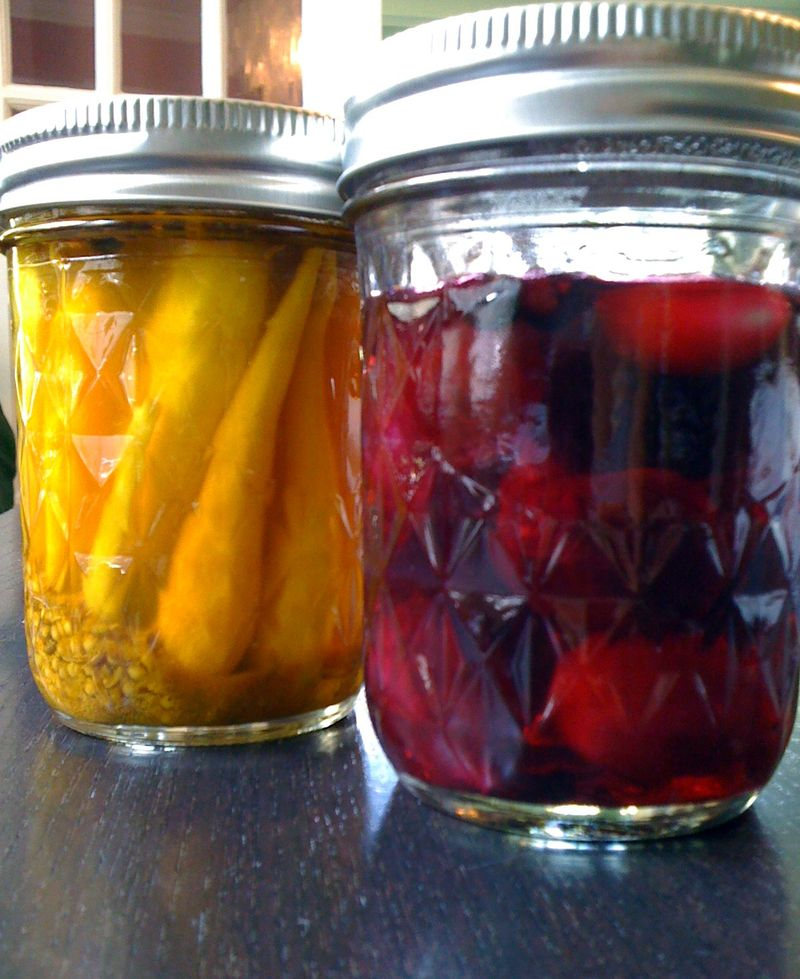Pickled carrots and beets